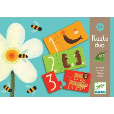 Djeco Duo Puzzle Cyferki