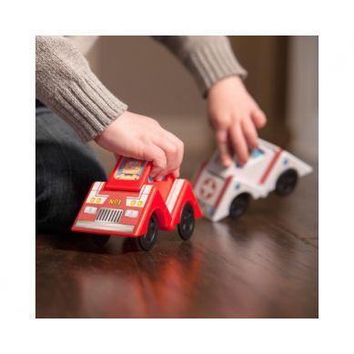 Fat Brain Toys - Samochodziki i Klocki Vroom Blox