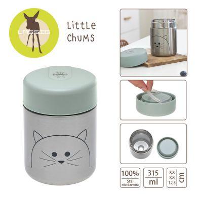 Lassig - Pojemnik-termos na Posiłki Little Chums Kot