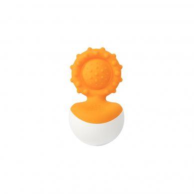 Fat Brain Toys - Bąbelki Dimpl Gryzak Wańka Wstańka Pomarańczowy