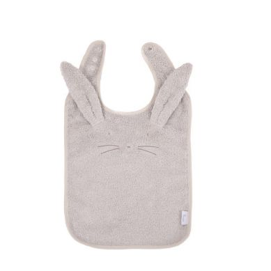 Bo Jungle - B-Śliniaczek Eco Organic Flower Rabbit Grey