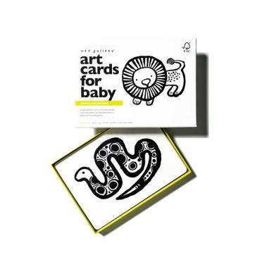 Wee Gallery - Zestaw czarno-białych Kart dla Dzieci Jungle