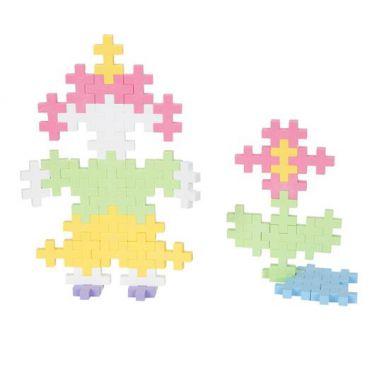Plus Plus - Klocki Midi Pastel 50szt. Dziewczynka i Kwiatek