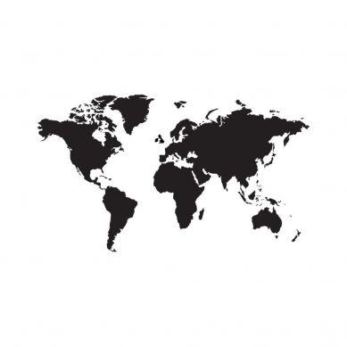 Dekornik - Naklejki Ścienne Mapa 6 Czarna Tablicowa M