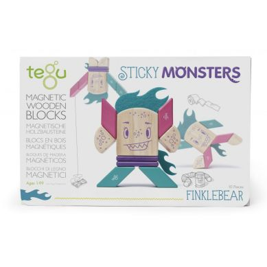 Tegu - Drewniane Klocki Magnetyczne Sticky Monsters Finklebear