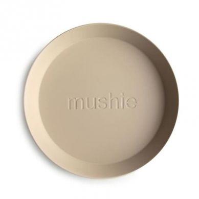 Mushie - 2 Talerzyki Round Vanilla