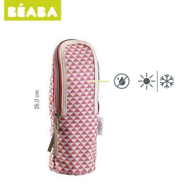 Beaba - Opakowanie Termoizolacyjne na Butelkę Play Print Marsala