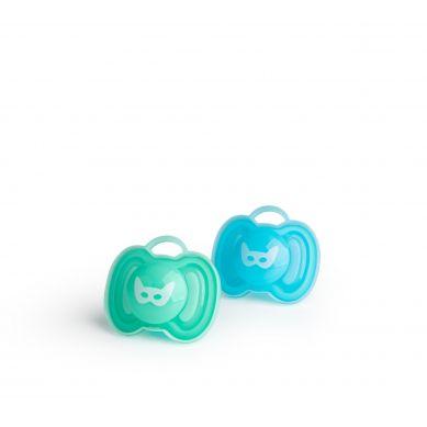 Herobility - Smoczek Uspokajający HeroPacifier 0m+ Niebieski/turkusowy 2 szt.