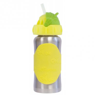 Pacificbaby - Termobutelka ze Słomką Pacific Baby 265 ml Silver Yellow