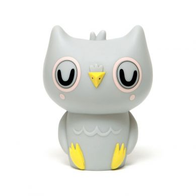 Petit Monkey - Lampka Owl Light Grey