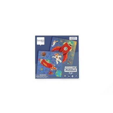 Scratch - Podróżne Puzzle Magnetyczne Rakieta i Kosmos 40 elem. 3+