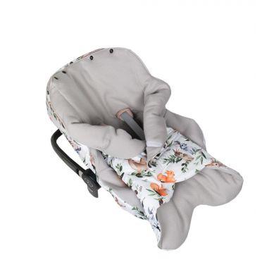 Muzpony - Pikowany Śpiworek/Otulacz do Fotelika Samochodowego Leśne Zwierzątka