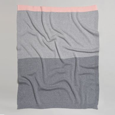 Bim Bla - Kocyk So Gray Jasny Różowy