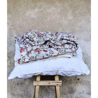 Lola y Lolo - Zestaw Poszewek na Pościel Motyli Raj Biały 135x100