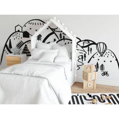 Pastelowelove - Naklejka na Ścianę Góry Czarne S 150x75 cm