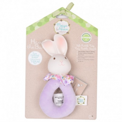 Meiya & Alvin - Havah Bunny Soft Rattle with Organic Teether Head