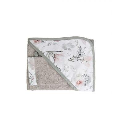 Muzpony - Okrycie Kąpielowe z Myjką 80x80 Magnolia