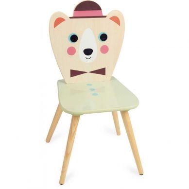 Vilac - Krzesełko Drewniane dla Dzieci Miś z Kapeluszem