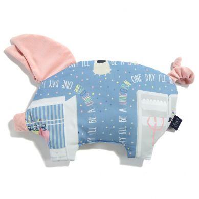 La Millou - Podusia do Wózka Sleepy Pig Doggy Unicorn Story Powder Pink