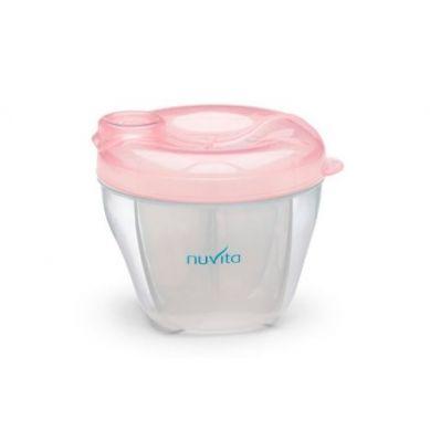 Nuvita - Pojemnik na Mleko 4 Przegródki Pastel Pink