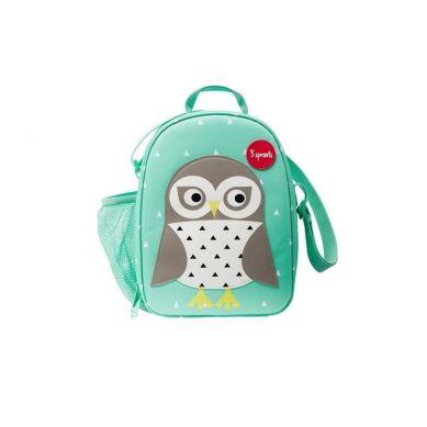 3 Sprouts - Lunch Bag dla Dzieci Sowa