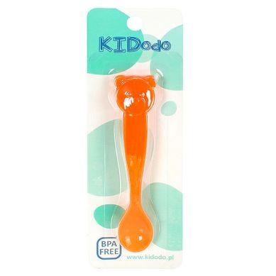 KIDodo - Łyżeczki Zmieniające Kolor Pomarańczowy Miś 2 szt
