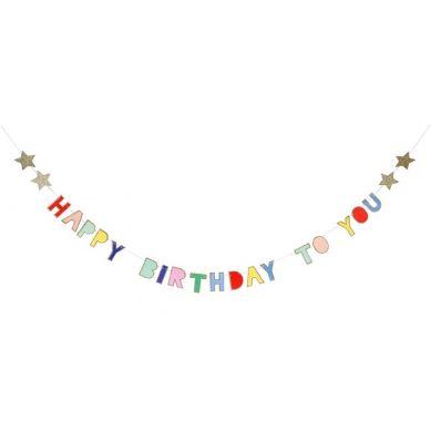 Meri Meri - Girlanda Happy Birthday Kolorowa