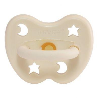 Hevea - Okrągły Smoczek Kauczukowy Milky White 0-3m