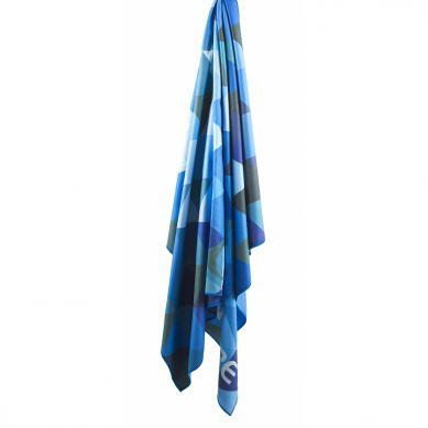 LittleLife - Ręcznik Szybkoschnący Soft Fibre Lifeventure 15x90 Niebieskie Trójkąty