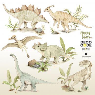 Dekornik - Zestaw Naklejek Ściennych Happy Dino Wonderland L