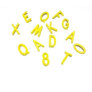 OMM Design - Literki do Tablicy Yellow 1,9 cm
