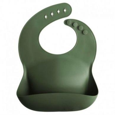 Mushie - Śliniak Silikonowy Forest Green