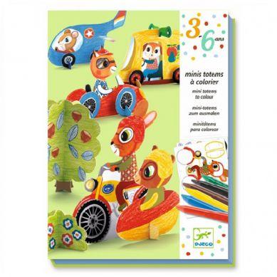 Djeco - Zestaw do Składania Pojazdy 4+