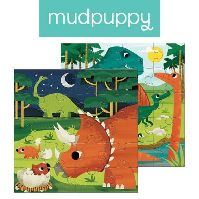 Mudpuppy - Puzzle Magnetyczne Dinozaury 4+