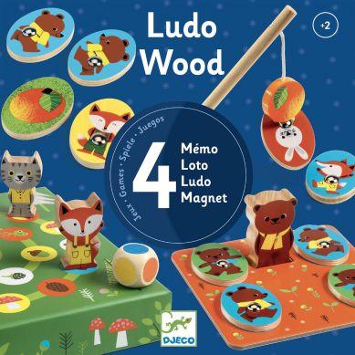 Djeco - Zestaw 4 Gier LudoWood