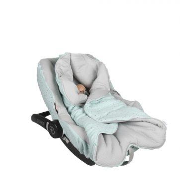 Muzpony - Pikowany Śpiworek/Otulacz do Fotelika Samochodowego Blink Mint