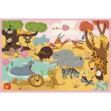 Auzou - Gra Szukaj i Dopasuj Zwierzęta Świata 3+