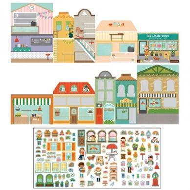 Petit Collage - Naklejki z Planszą Miasto