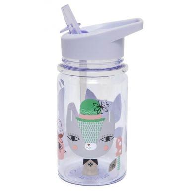 Petit Monkey - Butelka z Rurką Lama & Friends Lilac