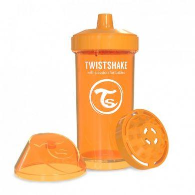 Twistshake - Kubek Niekapek z Mikserem do Owoców 360ml Pomarańczowy