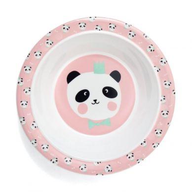 Petit Monkey - Miseczka z Melaminy Panda Bear Chalk Pink