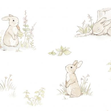 Dekornik - Tapeta Rabbit Classic Day