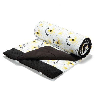 La Millou - Koc Piknikowy z Kieszonką, Mata do Zabawy XL Banana Split Bright Black