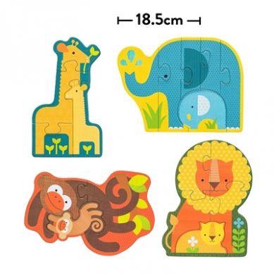 Petit Collage - Pierwsze Puzzle Safari Baby