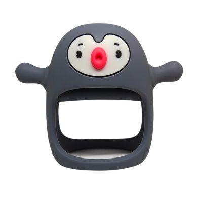 Smily Mia - Gryzak Silikonowy Pingwin Buddy Grey
