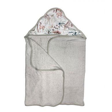 Muzpony - Duży Ręcznik Kąpielowy z Kapturem Safari 140x70 cm