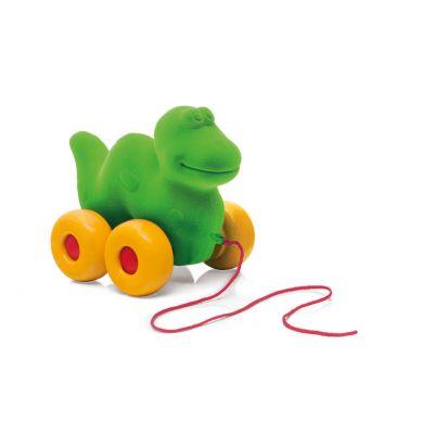 Rubbabu - Dinozaur do Ciągnięcia Sensoryczny Zielony