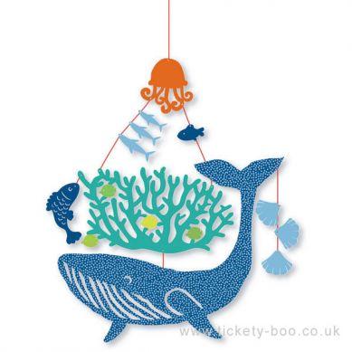 Djeco - Mini Ruchoma Dekoracja Wieloryb pod Wodą