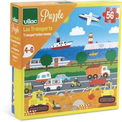 Vilac - Puzzle dla Dzieci Pojazdy 56 el.