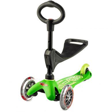 Micro - Hulajnoga Mini Baby Seat 3w1 Deluxe Green 1+